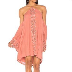 The Jetset Diaries Desert Rose Mini Dress Salmon S
